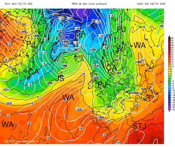 Jet + 850hpa Temps