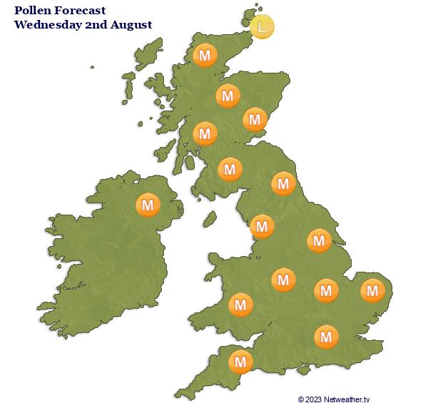 Pollen Forecast Map